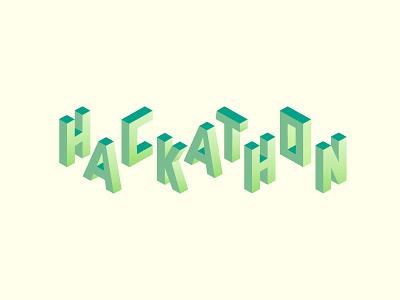 Hackathon logo isometric hackathon
