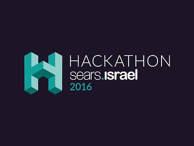 Hackathon V.2 logo isometric hackathon