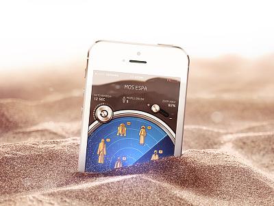 Gold ios app icon gold c3po space message odigo radar sand desert