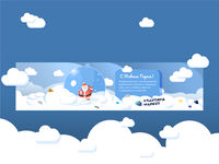 Website banner with Santa