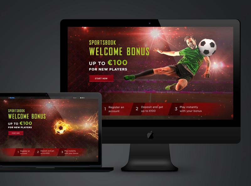 Sports betting landing page sport ball football sport bet landing page design ui web design website casino sportbook web