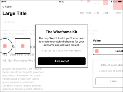 The Wireframe Kit boilerplate toolkit library wireframe sketch