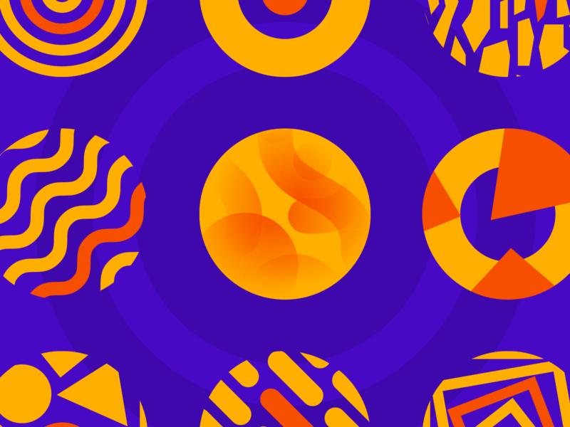 Shapes concept logo branding shapes