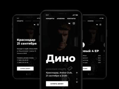 Adaptive Design for Artist Site web ux ui