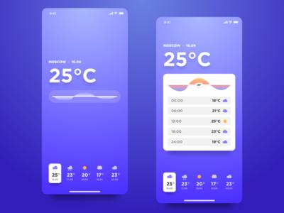 Minimal Weather iOS App Concept ios app ux ui