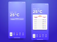 Minimal Weather iOS App Concept