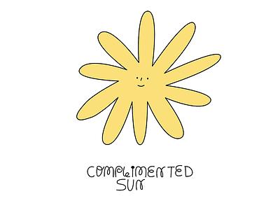 COMPLIMENTED SUN sun minimalist 2d character design animation 2d animation