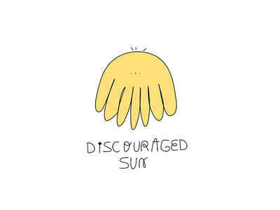 Discouraged sun character character design illustration animation 2d animation