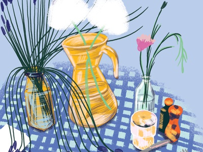 Still life flowers illustration stilllife loretaisac illustration