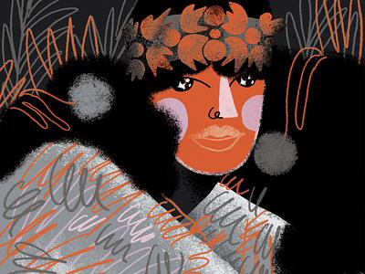 Sappho portrait sappho poet inktober inktober2020 illustration