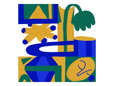 Loop green yellow blue geometric loop animation animation 2d