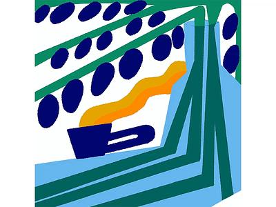 LOOP minimalist gif motion 2d yellow green blue loop animation