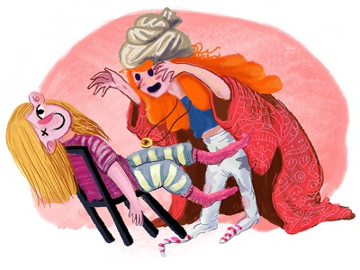 Othello and Desdemona story character design illustration othello and desdemona play sister memories childhood week character