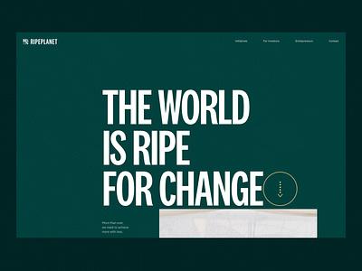 Ripeplanet website design