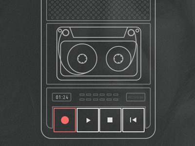 Casette Player UI