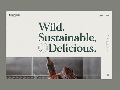 Discovered Wildfoods - Home ui website design