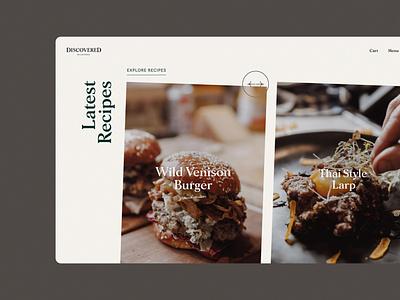Discovered Wildfoods - Recipes ui web website design