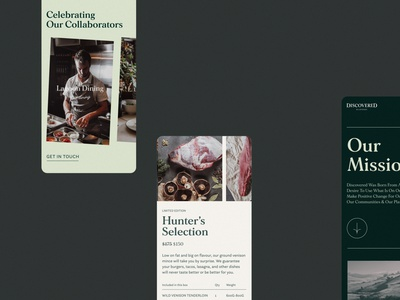 Discovered Wildfoods - Mobile ui web website design