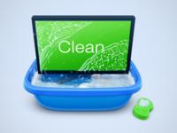 PC cleaner illustration/Icon