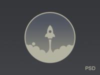 Rocket Icon Freebie PSD By Alex Pronsky