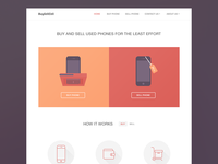 Buy sell cell phones home page design