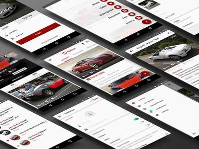 Patina Android App Material Design social vehicle car flat design material application app android