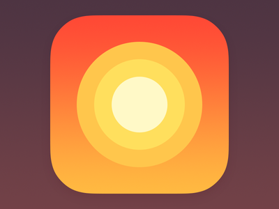 Weather App Icon 2 simple minimalistic minimal sunny sun iphone illustration icon flat ios weather