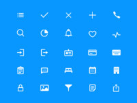 Icon set for Pulse IOS app