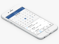 Bookings list view for Pulse IOS app