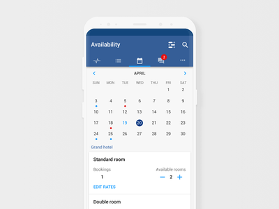 Pulse availability screen for android pulse booking.com booking interface ux ui mobile material design android