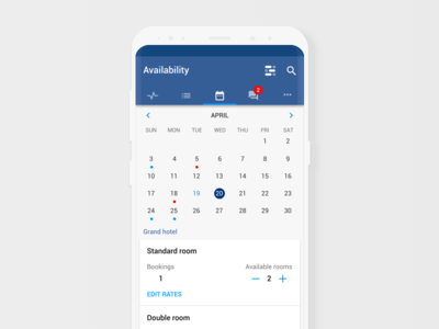 Pulse availability screen for android
