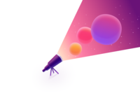 Space Lens Illustration for CleanMyMac X