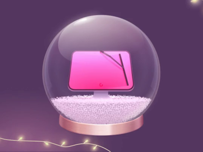 CleanMyMac X Christmass Promo Video display snowball dissolve disperse tyflow 3dmax sale holiday promotions promotion discount snow particles 3d new year christmass animation cmmx cmm cleanmymac