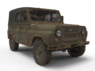 UAZ 459 3D Rendering suv jeep soviet union russia army 3d cg rendering visualization mental ray vray texturing lightning