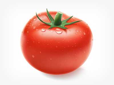 Tomato tomatoe vegitable creative mints photoshop paint red drawing water drop green pomidor fresh vegetable