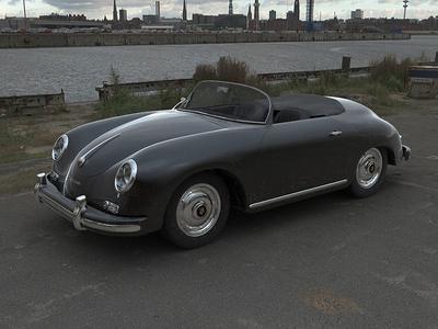 Porsche 356 3D Rendering