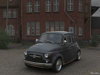 Fiat 500 3D Rendering
