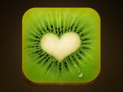 Even Kiwi has a Heart IOS Icon