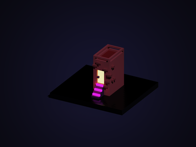 Trying my hand at Voxels pixelart voxel