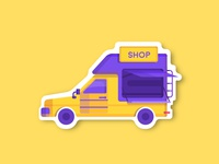 Shop-car sticker