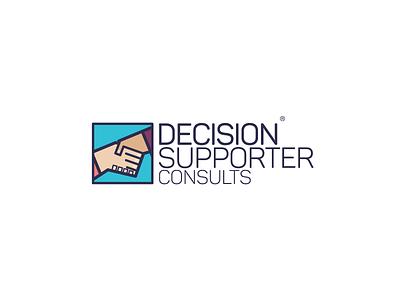 Decision Supporter Consults Logo art graphic branding logo