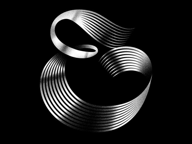 E 3d digital illustration 3d art minimal typeface logo linework lettering typography illustration graphicdesign 36daysoftype