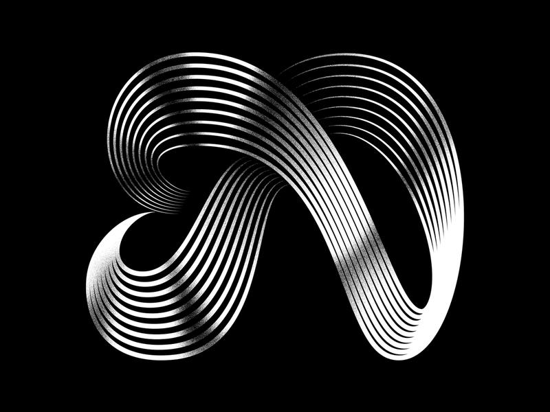 N typography vector icon logo linework lettermark lettering illustration graphicdesign digital illustration 3d art 3d 36daysoftype