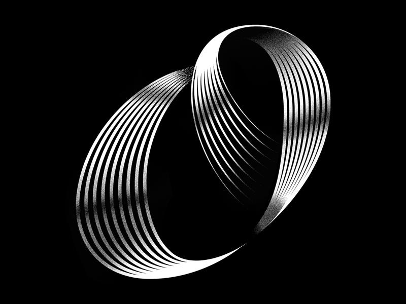 O blackandwhite digitalart 3dart 3d 36daysoftype minimal typeface lettering typography vector logo icon graphicdesign linework illustration
