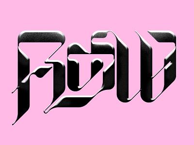 Flow retro black minimal icon logo liquid flow ligatures typography typeface font letters science fiction lettering design art