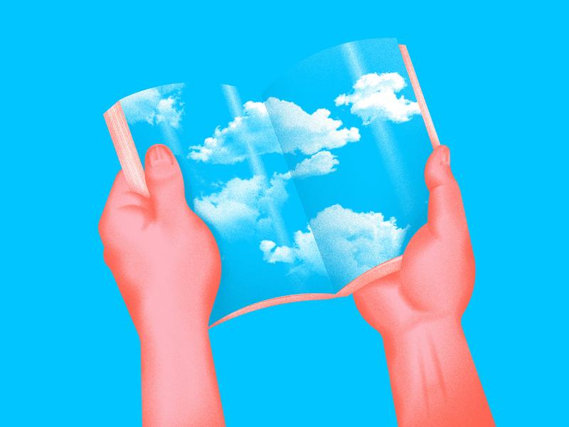 Abstract sky vector art digital art illustrations designs clouds book blues art