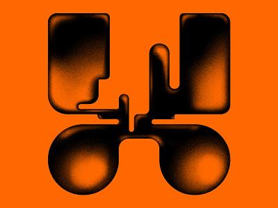 X 36daysoftype08 36daysoftype typography typeface lettering organic fluid icon minimalism digitalart art 3d graphicdesign
