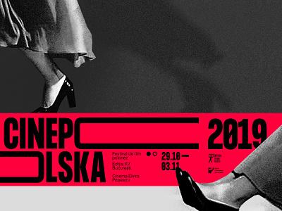 Cinepolska event poster brand identity festival film film poster red poster polska polish design poster design branding design lettering icon illustration logo graphic design