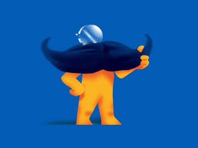 Moosetache t-shirt sticker cartoon characterdesign logo linework illustration moustache graphicdesign blue comicbook
