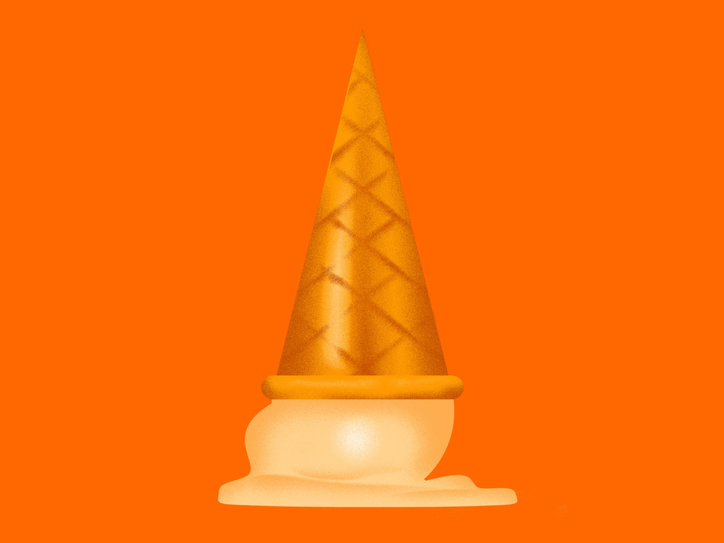 Dirty Deeds vector ice cream cone orange dirty icecream minimal gold design graphicdesign sticker icon badge illustration